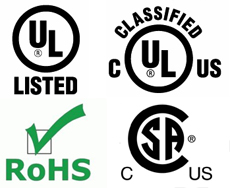 UL/CSA/RoHS Compliant Applications